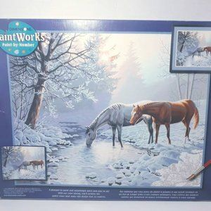 Frosty Morning Horses Dimension Paint by Number